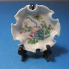 Flowers & Butterfly Small Hand Painted Souvenir Dish