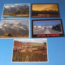 Wyoming Grand Tetons Afton and Jackson Hole Scenes Postcards