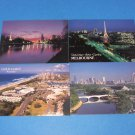 Gold Coast Melburne Victoria and Yarra River Australia Postcards