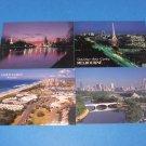 Gold Coast Melburne Victoria and Yarra River Australia Postcards