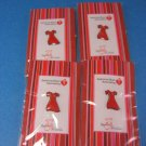 Love Your Heart ♥ FOUR Red Dress Pins