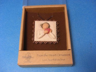 Willow Tree From The Heart Metal Edged Ornament