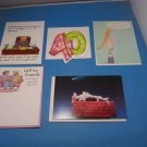 Lot Of 5 Birthday Cards And Envelopes