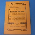 Richard Strauss Symphonien No. 42 Op. 24 (Eulenburg's Miniature Score) Sheet music