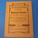 Richard Strauss Symphonien No. 42 Op. 24 (Eulenburg's Miniature Score) Sheet music