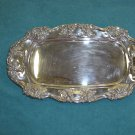Vintage Towle Old Master Ornate Silver Plate Oval Tray Dish