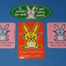 Lot of 4 Collectible Jim Benton Happy Bunny Stickers