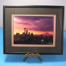 """Painted Sky"" A Winter Sunrise Silhouettes Seattle Skyline Signed Photo by Rick Morley"