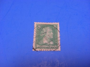 Germany Stamp Reich Composer Friedrich Schiller, 1926, 5 Pfennig, stamped