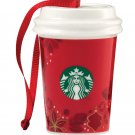 STARBUCKS 2013 Red To Go Cup Ornament Ceramic Christmas Holiday