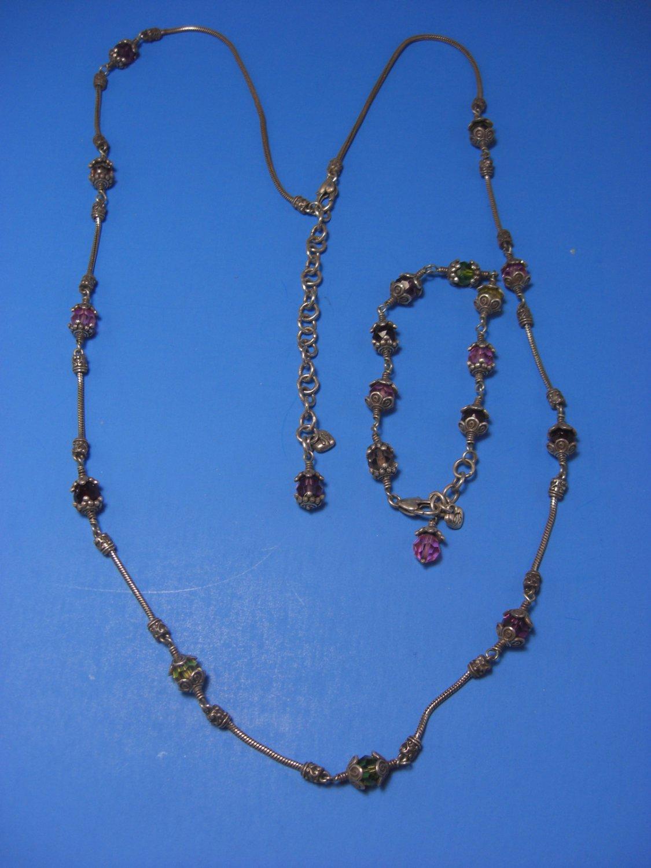 Brighton Glass Mountain Necklace & Bracelet Set