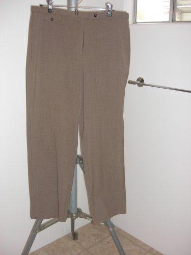 JM COLLECTION Petite Women's Brown Career Dress Pants Flattering Fit Sz 14 PS