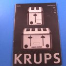 Krups KH744D50 Definitive Series Stainless Steel 4 Slice Toaster Owners Manual