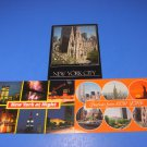 Greetings from New York, NY City at Night & St Patrick's Cathedral Postcards