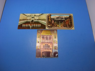 3 Innsbruck The Goldenes Dachl Austria Postcards