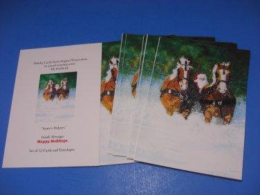 "Ally Benbrook ""Santa's Helpers"" Christmas Cards"