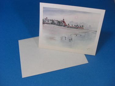 Elegance By The Sea Art Card by John Yato