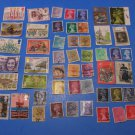 50 Used British Postage Stamps Lot UK