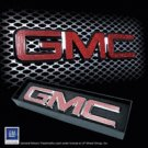 "Iced Out EMZ Chrome Grille Emblem ""GMC"" with Red Crystals, Each"