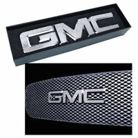 "Iced Out EMZ Chrome Grille Emblem ""GMC"" with Clear Crystals, Each"