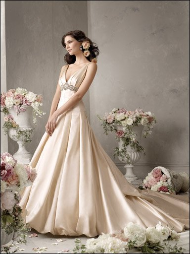 Satin Organza Wedding Dresses for Bride 2009 Style 002