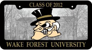 Class of 2012 License Plate