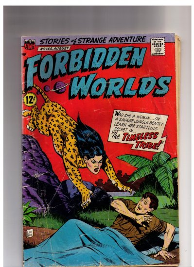 Forbidden Worlds ACG No 145 1967 12 cents The Timeless Tribe Sci-Fi