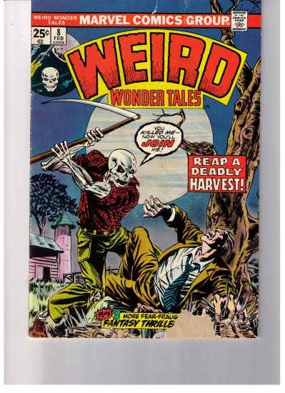 Marvel Comics WEIRD WONDER TALES No. 8 1974