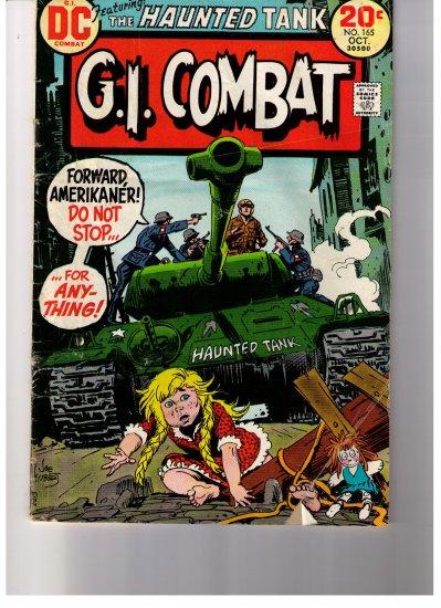 DC Comics G.I. COMBAT FEATURING THE HAUNTED TANK No 165  Oct 1973