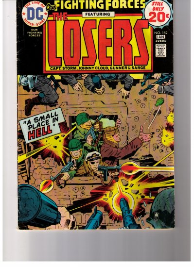 DC Comics Fighting Forces Featuring THE LOSERS No 152 1974/75