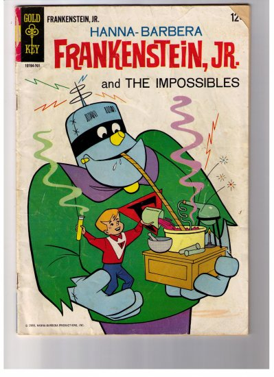 Hanna- Barbera Comic  FRANKENSTEIN, JR. No 1 1966