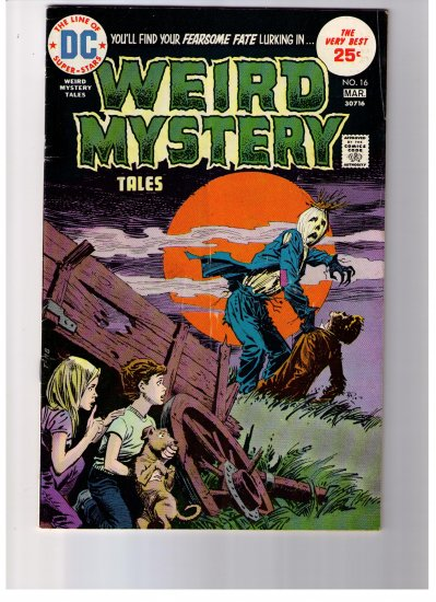 DC Super Stars WEIRD MYSTERY TALES No 16 Mar 1975 Bronze age