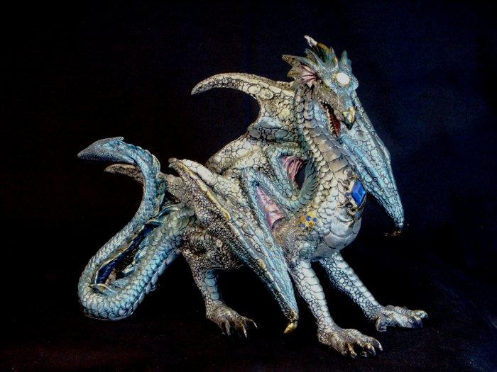 Dragon Multicolored Metallic-Finished Statue Figurine