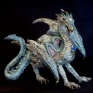 Dragon Multicolored Metallic-Finished Statue Figurine