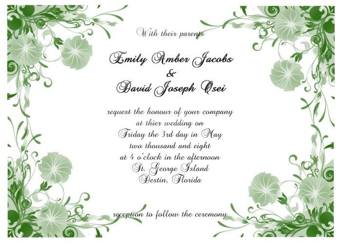Floral Border 1 Wedding