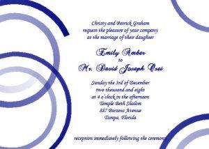 Modern Blues Wedding