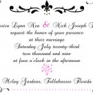 Contemporary Scrolls Wedding Invitations