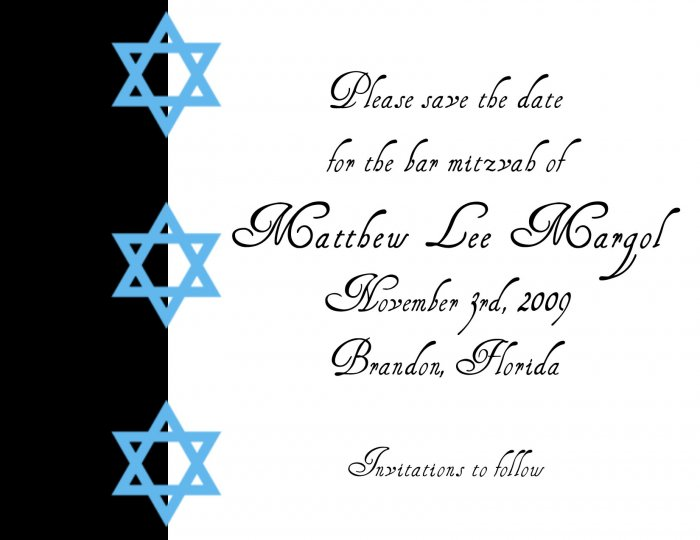 Bar Mitzvah - save the date