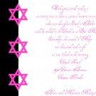 Bat Mitzvah - Invitation - Three Stars