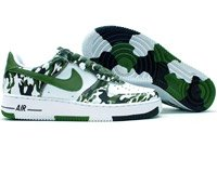 Nike Air Force 1 Low (white / green camouflage)