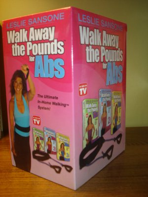Walk Away the Pounds ABS 3-Pack VHS Sealed L Sansone