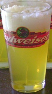 Budweiser Glass Gel Candle