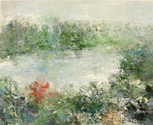 original watercolor painting 'RIVER VIEW'