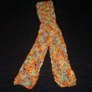 Nubby, Soft Orange and Yellow Scarf