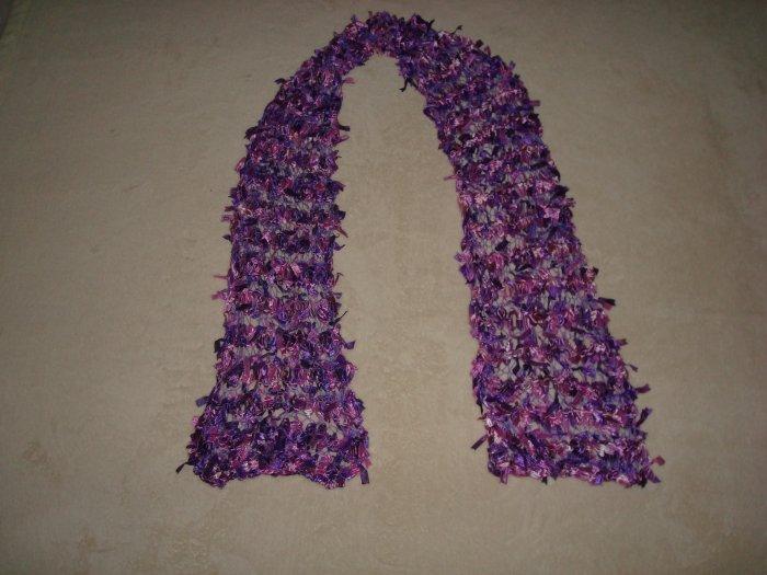 Lavender Ribbon Bow Scarf