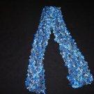 Fun, Nubby scarf, Blue, Blue, Blue