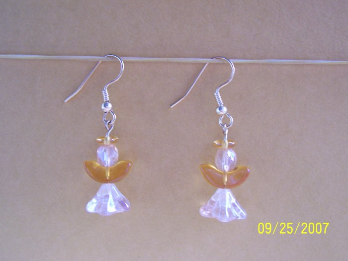 "Handmade ""Golden Angel""  Earrings"
