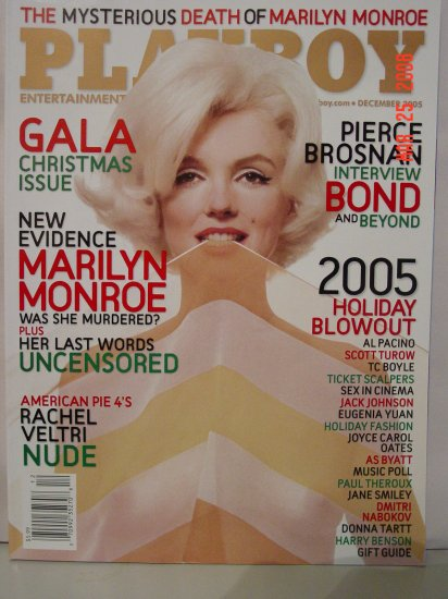 Dec 2005 Playboy Magazine Marilyn Monroe Evidence!!