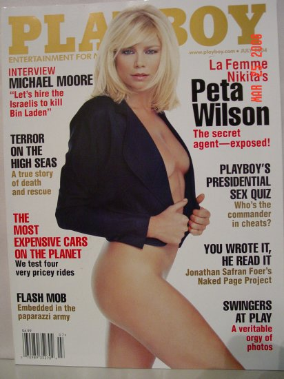 July 2004 Playboy Magazine La Femme Peta Wilson!!