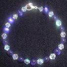 Purple Fire Polished Glass Bracelet